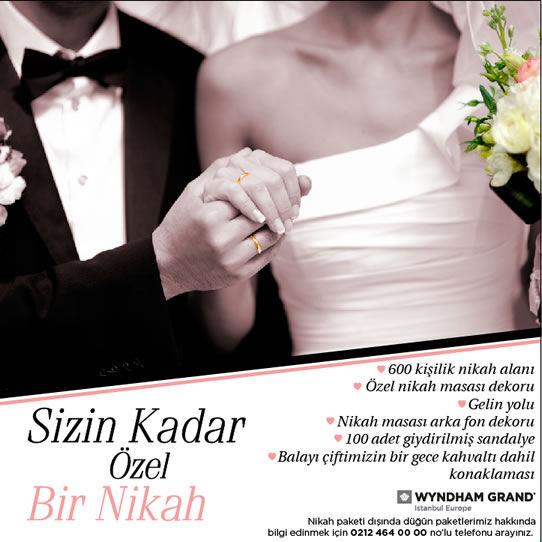 Wyndham Grand İstanbul Europe Sizin Kadar Özel Bir Nikah